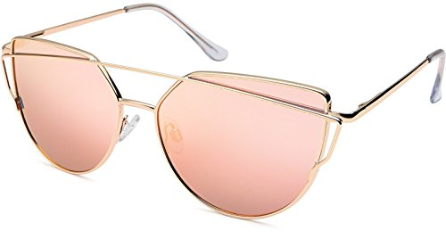 UVprotect Damen Katzenauge cat eye Sonnenbrille pink large W99-1L