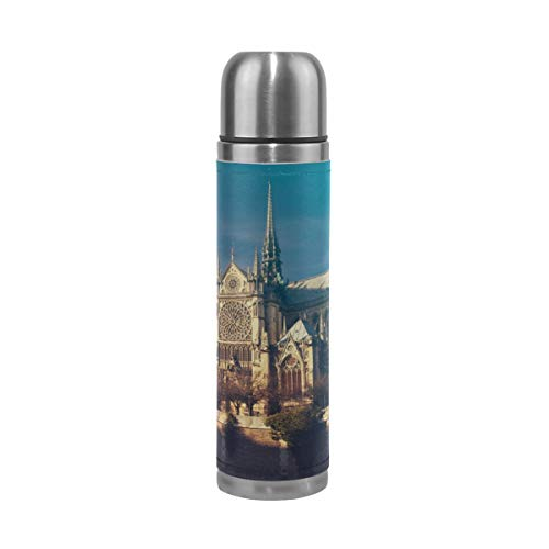 17 Oz Ancient Notre Dame De Paris Best Insulated Mug Durable Travel Mug Stainless Steel Bottle Warmer Double-wall Insulation Stainless Insulated Travel Mug