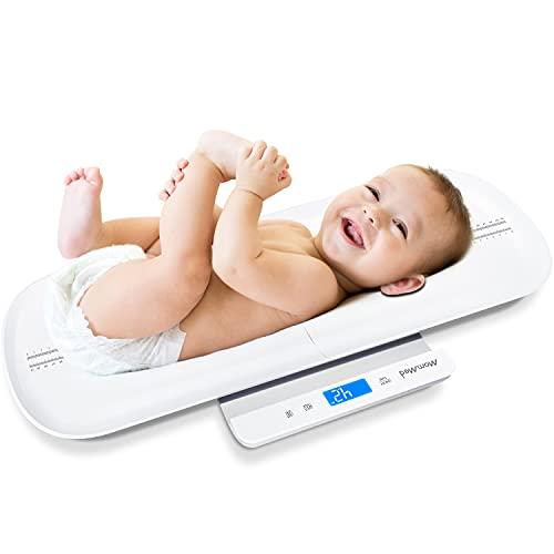 MOMMED Bilancia digitale Bluetooth per bambini, Bilancia multifunzione per animali domestici e neonati, Bilancia per...