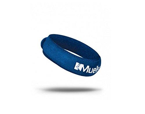 Mueller Jumpers Kniebandage für Skifahren, Laufen, Gewicht heben, Tennis, Squash, Springen gibt gleichmäßigen Druck auf die Patella-Sehne., KNEE-STRAP, blau