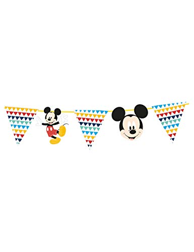 Procos- Awesome - Guirnalda decorativa de papel, 2 m, diseño de Mickey Mouse, Multicolor, Taglia Unica (5PR89007)