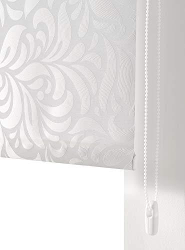 Estoralis MYRCELLA Estor Enrollable Jacquard Translucido, Blanco, 130 x 175 cm