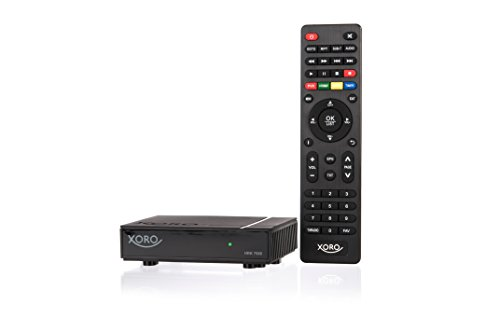 Xoro HRK7688 Mini HD ReceiverfürdigitalesKabelfernsehen(DVB‐C, USB 2.0, PVR Ready, Mediaplayer, VESA 75/100) schwarz