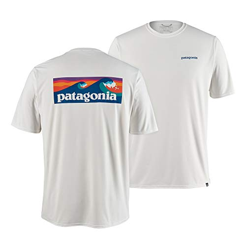 Patagonia Herren T-Shirt M's Cap Cool Daily Graphic Shirt, Boardshort Logo: White, S, 45235