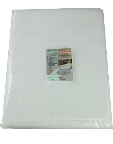 AMF Life Waschfaserlaken, 80cm x 210cm, 50g/m², Oeko-Tex®Standard 100, weiß, 10 Stück, Vliesauflagen für Massageliegen