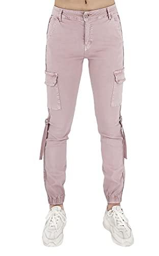 JOPHY & CO. Pantalón Cargo para mujer de algodón (cód. 1028) Rosa...