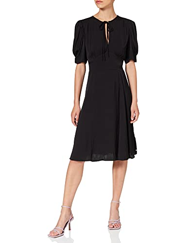 Scotch & Soda Drapey Midi Length Dress Robe, Black 0008, XS Femme
