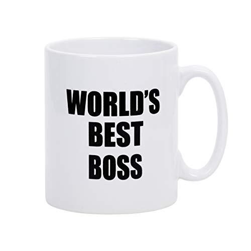 Funny Coffee Mugs Boss Mugs WORLD'S Best Boss Coffee Cups Novelty Presents...