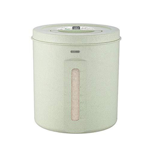 QIDIAN Reisaufbewahrungsbehälter 10kg luftdicht Lebensmittelbehälter versiegelter Lagerungstank Getreidespender Aufbewahrungsbox für Getreidekornbohne,Grün