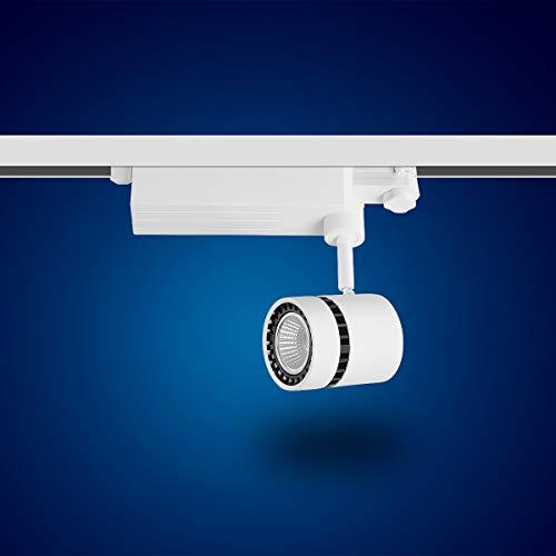 Mextronic LED-3-Phasen-Strahler für LED-3-Phasen-Schiensystem - 15 Watt, warmweiß [Energieeffizienzklasse A+]