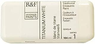 R&F Handmade Paints 1110 Encaustic Paint 104ml, Titanium White