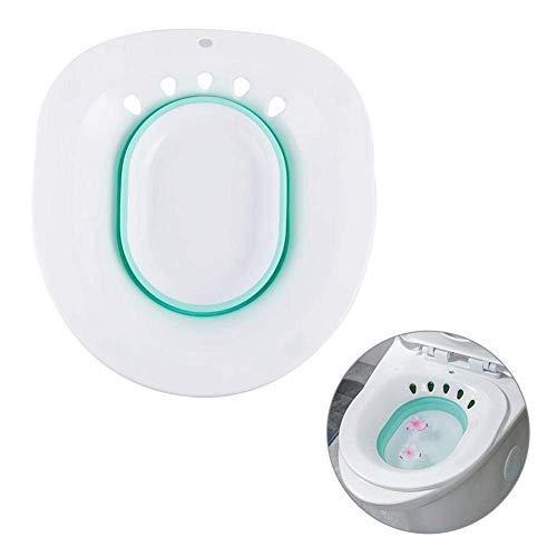 Bidet Bidet Pieghevole Plastica Seduta Riduttore per WC Capacità di Lavaggio Adatto per adulti da posizionare sul bordo del WC (circa 39 x 36 x 12 cm.