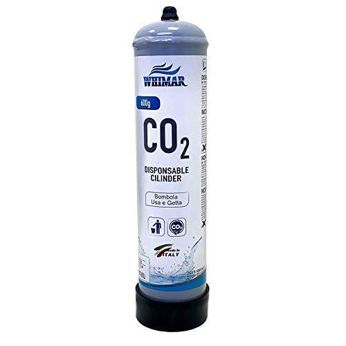 Whimar CO2 Disposable Cilynder 600gr Bombola Universale per impianti CO2