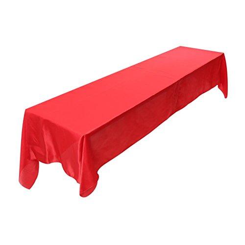 Asixx tovaglia tavolo panno, Biancheria da tavola birra tenda filo ituraus poliestere per feste, banchetti, cene, ristoranti, matrimoni, 149x 322cm NERO/ORO/BIANCO/ROSSO/VIOLA Rot