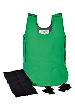 Abilitations Weighted 4 Pound Vest 17 to 22 Inches x 34 Inches Green Medium - 1387586