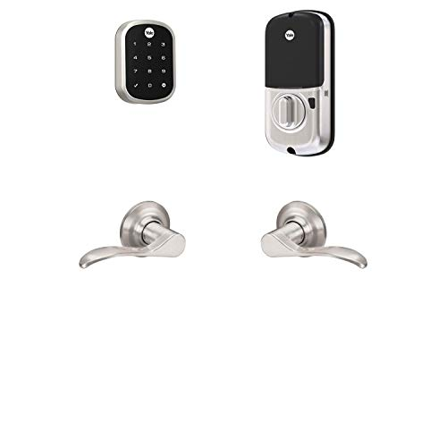 Yale Assure Lock SL, Wi-Fi Smart Lock with Norwood Lever - Works with the Yale Access App, Amazon Alexa, Google Assistant, HomeKit, Phillips Hue and Samsung SmartThings, Satin Nickel