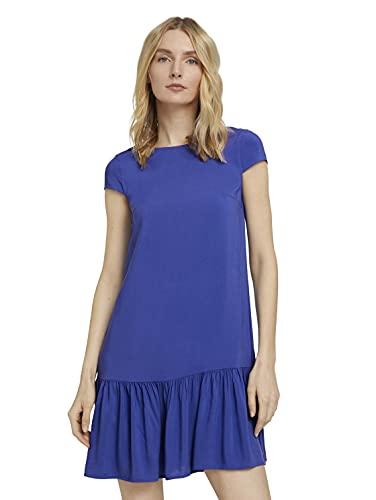 TOM TAILOR Damen 1026597 Feminine Kleid, 26529-Anemone Blue, 40