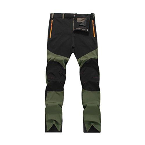 Pantalones de Trekking Hombre Pantalones de Softshell Pantalones Transpirable de Escalada Pantalones Impermeable Deportes Calentar Invierno Grueso Táctico Pantalones Xinan (XL, Negro)