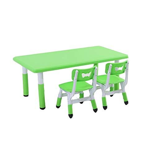 CHAXIA Chaise De Table Enfant Ensemble Jardin d'enfants Multifonction Apprentissage Manger Tables Élévatrices, 4 Couleurs 5 Combinaisons (Color : Green, Size : C)