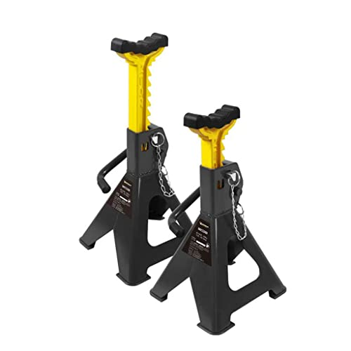 2 Piezas Mantener el Coche Soporte de Seguridad 2T Gato de Reparación de Automóviles Trípode Espesado Acero Gato de Elevación Adecuado para Coches Y Deportes. Vehículos Utilitarios