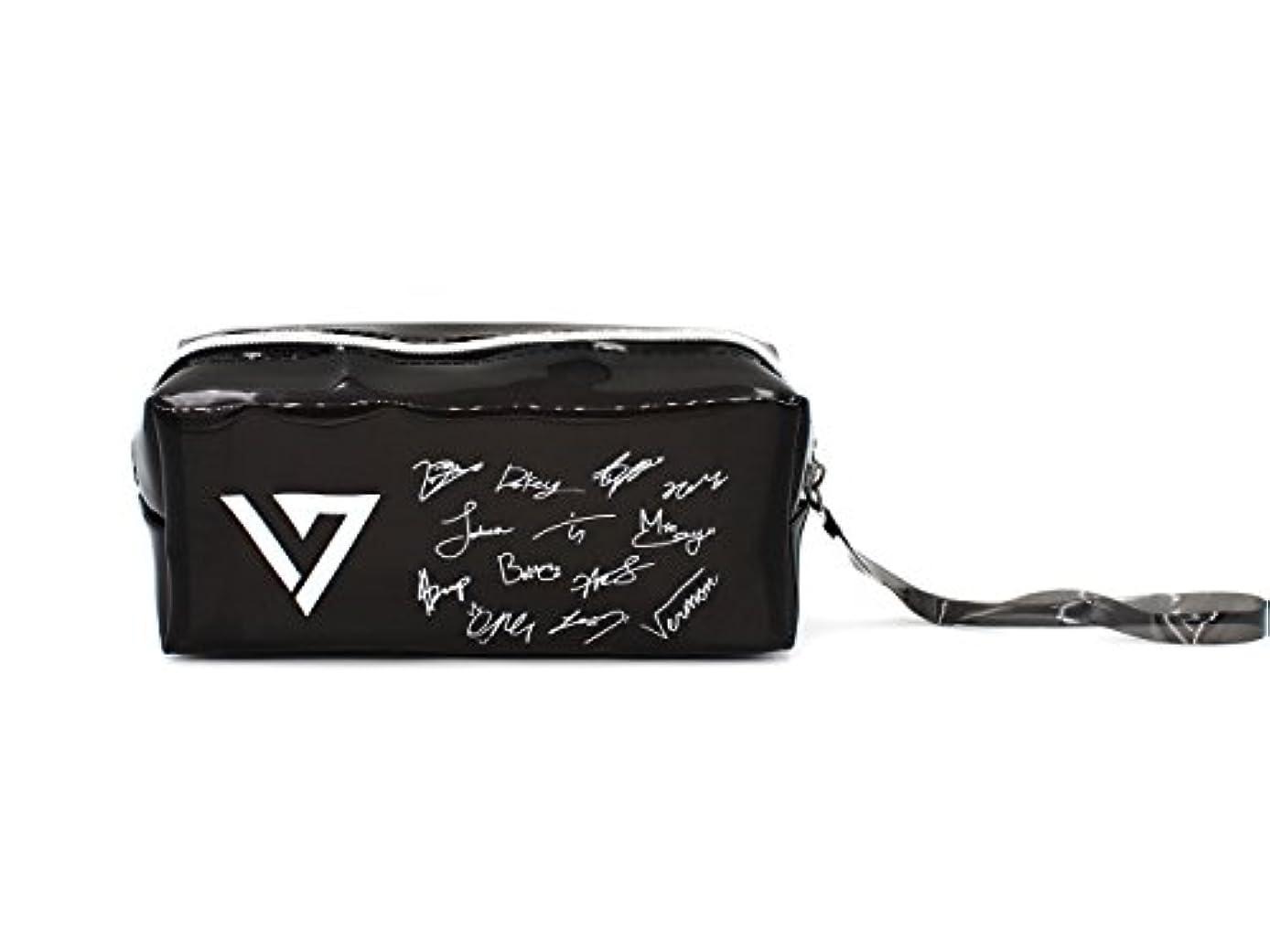 Fanstown Seventeen Kpop Signature Logo Pencil case with lomo Card (PU-Seventeen)