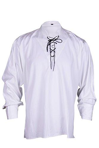 Renaissance beiläufige Sommer-Piraten-Hemd-Weiße Farbe Mittelalterlichen Kostüme Männer Medium Size