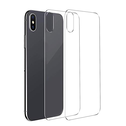 Conleke 2 Pack Back Screen Protector for iPhone Xs Max, Rear Tempered Glass [3D Touch] Anti-Fingerprint Back Glass Screen Protector Compatible with iPhoneXs Max(2 Back,6.5inch,Thin)