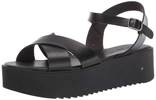 Rock & Candy womens Wedge Sandal,Black,8.5 M US