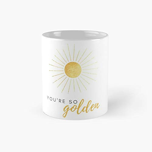Taza clásica con texto en inglés 'You're So Golden Harry Styles' | El mejor regalo divertidas tazas de café de 325 ml