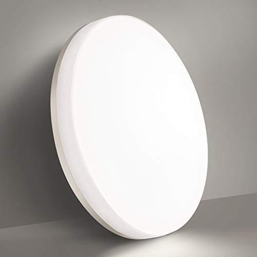 BBounder 15W LED Deckenleuchte, IP54 Wasserdichte Deckenlampe, 4000K Kaltweiße Badlampe, 1280lm Runde Lampe, geeignet für Badezimmer Küche Wohnzimmer Balkon Flur Ø22cm