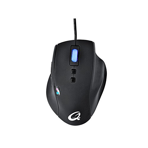 QPAD Pro Gaming Laser Maus (5040 DPI, 150 Zoll pro Sekunde) schwarz