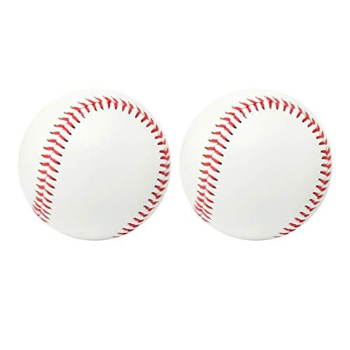 WINOMO 2PCS Weiche Baseball Weiche Schlagen Praxis Baseball Freien Sport Baseball Ball Weiche Art Ausbildung Baseball für Kind Kinder Erwachsene (Weiß)