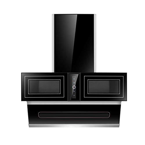 SXYY Home Küchen-Dunstabzugshaube, 40 M³ Schwarze Dunstabzugshaube Mit Seitlicher Absaugung, Doppelschränke Mit Zentraler Erweiterung, Intelligente Somatosensorische