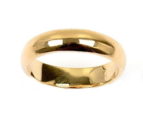 Anillo de boda chapado en oro 750/000 (18 martes) para hombre y mujer
