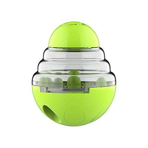 hbz11hl Interactive Cat Toys丨Pet Dog Slow Feeding Feeder Leakage Food Ball Dispenser Training Play Chew Toy丨 The Best Entertainment Exercise Gift for Your Kitty丨100% Cat Safety Green