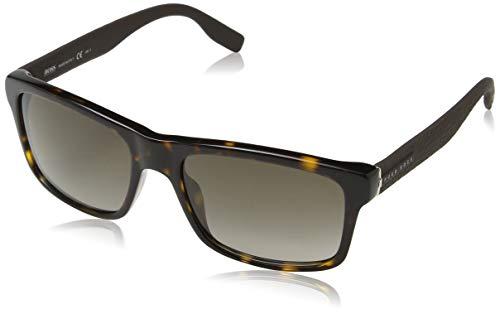 Hugo Boss 0749/F/S TD Gafas de sol, Negro (Matt Black/Grey Pz), 56 Unisex-Adulto