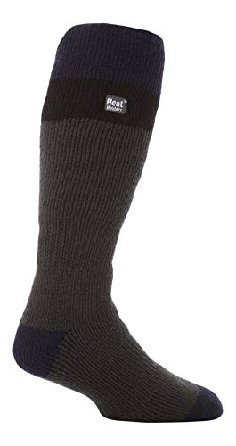 HEAT HOLDERS - Hombre Altos Termicos Calcetines Esqui para Frio Extremo (39/45, Grey/Black)