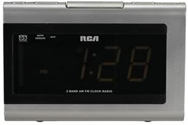 RCA RP5420 AM FM Clock Radio With 1 4 Inch Display And Auto Time Set Discontinued By Manufacturer