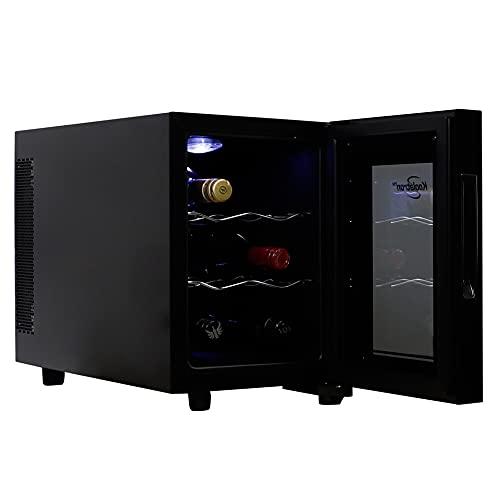 Koolatron Urban Series 6 Bottle Wine Cooler, Thermoelectric Wine Fridge, 0.65 cu. ft. Freestanding Wine Cellar for Small Kitchen, Apartment, Condo, Cottage, RV