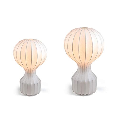 FHUA Lámpara Escritorio Lámpara de Aire Caliente Globo Blanco lámpara de Mesa lámpara Escritorio lámpara Creativa Arte Deco Moderno Minimalista Sala de Estar Dormitorio Cama Restaurante Seda Seda