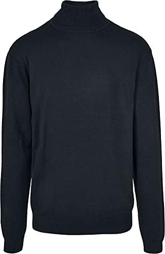 Urban Classics Herren Basic Turtleneck Sweater Sweatshirts, Black, M