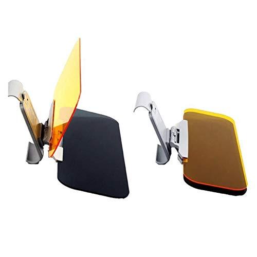 LIZCX YAOQIHAI Coche Visera HD Anti Deslumbrante luz del Sol Gafas de visión Nocturna Día de conducción Espejo UV Fold, Tapa de Clear View (Color : Gray)