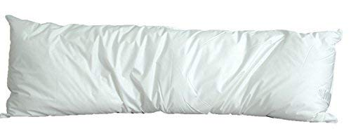 White Goose Down and Feather Body Pillow – Pillows Size 20 Inches x 72 Inches