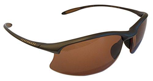 Serengeti Unisex Maestrale Sonnenbrille, Sanded Dark Brown/Polar Phd Drivers, M-L