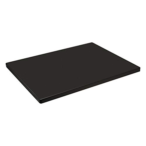 G.a HOMEFAVOR Glazed Cordierite Pizza Stone, 12''x 15'' Black Rectangular Baking Stone for Ovens or Grill -Thermal Shock Resistant, Durable and Non-Stick