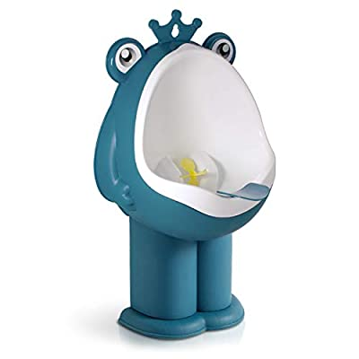 Hallo Potty Training Urinal Boy Urinal Kids Toddler Pee Trainer Bathroom Funny Baby Training Potties?DEEP Blue?