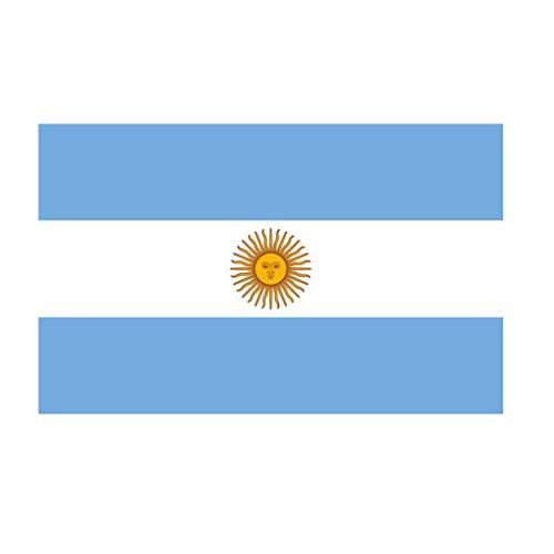 TENNER.LONDON Argentinië Vlag Strijkijzer op Schermprint Stof/Weefsel Applique machine wasbare transfer Argentijnse Argentijnse vlag