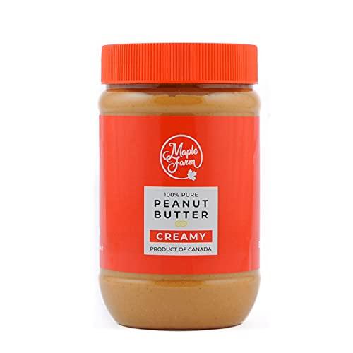 MapleFarm - 100% Puro Burro d'arachidi cremoso (CREAMY) - 500g - Burro arachidi proteico - Crema proteica - Burro di arachidi naturale - Crema di arachidi - Peanut butter creamy