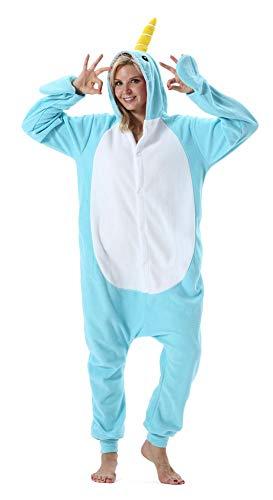 Adultos Animal Pijamas Cosplay Animales de Vestuario Ropa de Dormir Halloween y Carnaval Disfraces Ballena M