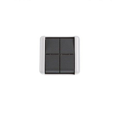 Jung 835W dubbele knop, wit/grijs